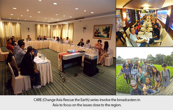 CARE (Change Asia Rescue the Earth) series involve the broadcasters in